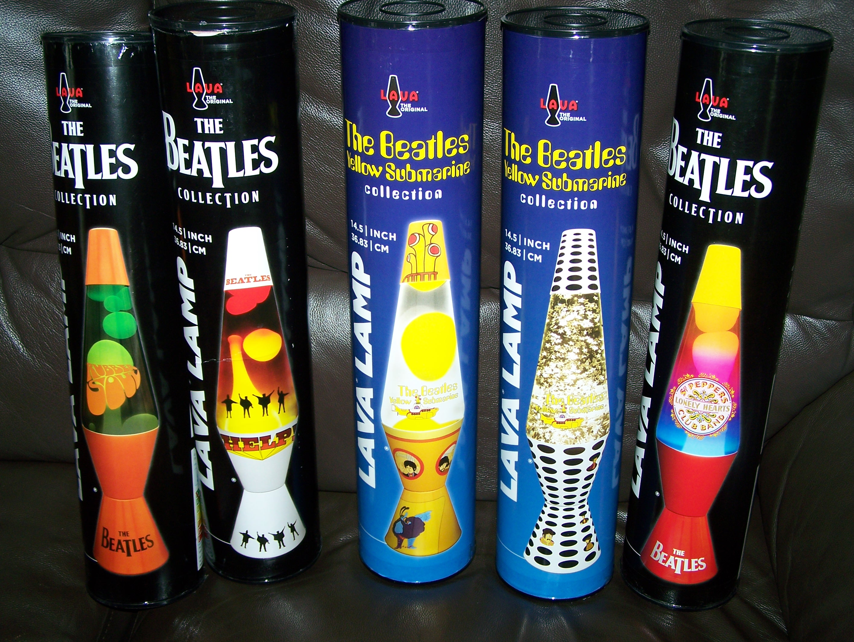 5 New Beatles Oficial Lava Lamps [Fab Designs] £49.99 Each ...